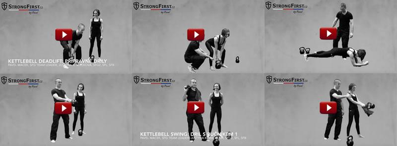 Video ekurz StrongFirst kettlebell swing [série instruktážních videí + .pdf workbook ZDARMA]