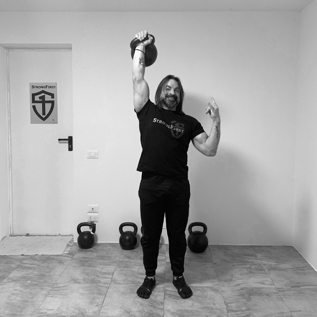 Fabio Zonin, kettlebell press