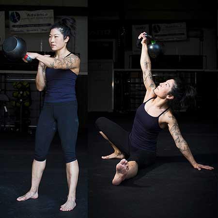 """Mira Gracia, StrongFirst Certified Team Leader,""""Sinister,""""zlatá medaile ve vzpírání na mistrovství USA, kategorie senioři"""